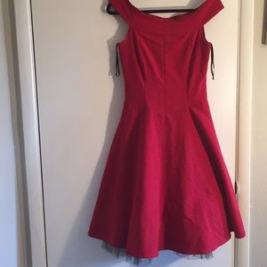 Ruby Rox Red Off- ShoulderWomen Dress ❤️Size 6❤️